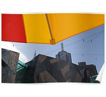 Federation Square Umbrellas Poster