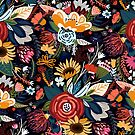 Popping Moody Floral  by TigaTiga