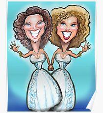 Lesbian Wedding Cake Dolls Poster