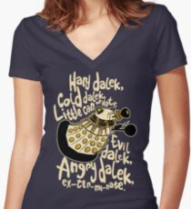 Hard Dalek (Soft Kitty Parody) Women's Fitted V-Neck T-Shirt