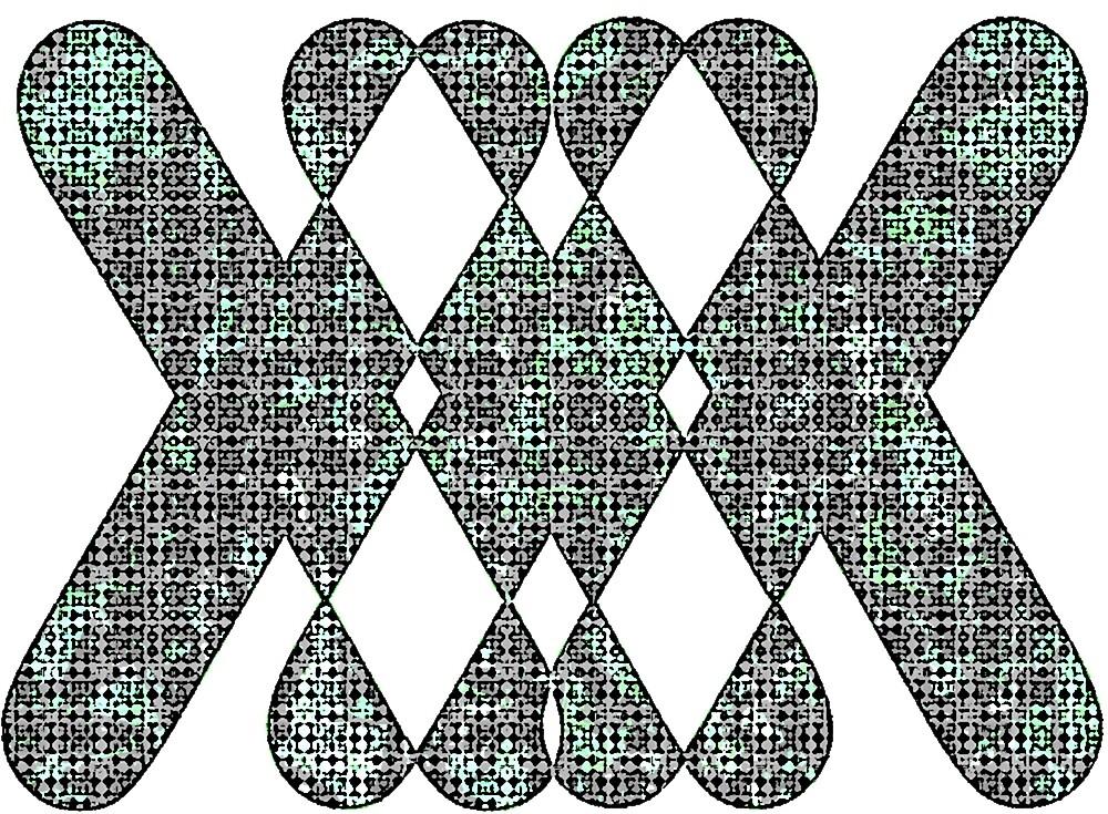 X Pattern Design (Blue) by ProjectMayhem