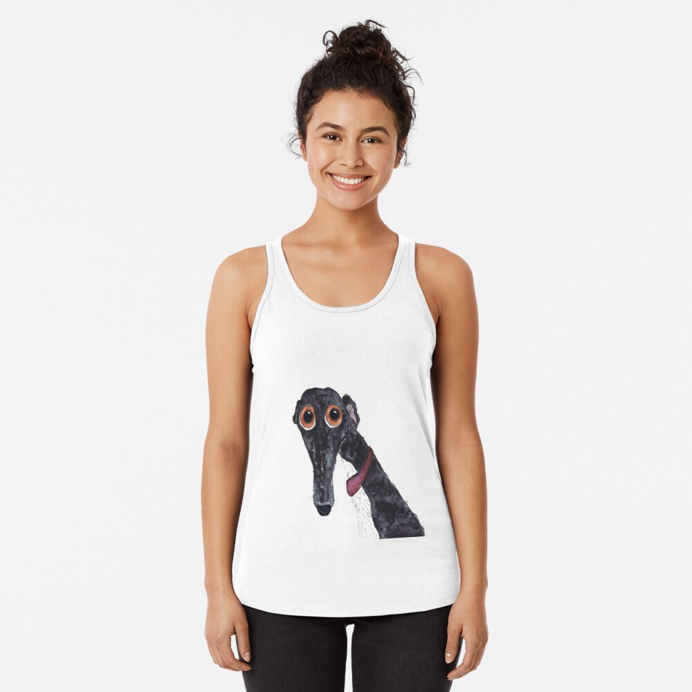 GREYHOUND - AKA 'The Silly Greyhound' g203 Racerback Tank Top