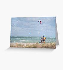 KITE SURFING (Ft, Pierce, Florida) Greeting Card