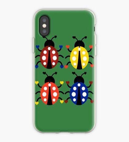 Ladybugs with Hearts iPhone Case
