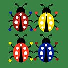 Ladybugs with Hearts by DesignsByDebQ
