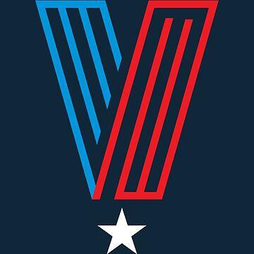 Veteran Superhero Letter V by DOODL