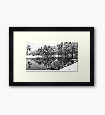 Green Door on the Lifeguard's Stand - Bridgton,  Maine Framed Print
