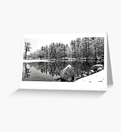 Green Door on the Lifeguard's Stand - Bridgton,  Maine Greeting Card