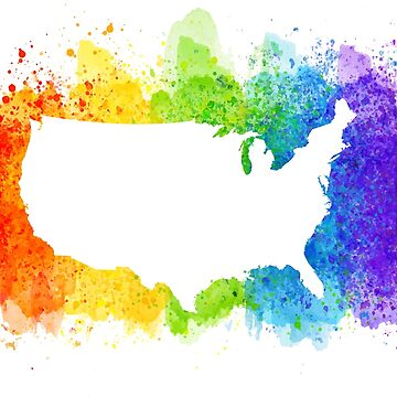 Pride Rainbow Map USA by digitalbulldog