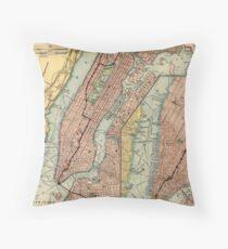 Cojín Mapa del metro de la ciudad de Nueva York (1903)