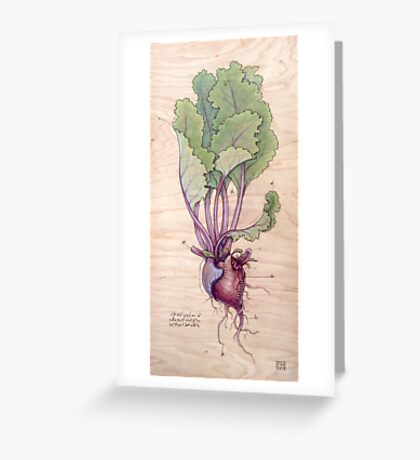 Heart Beet Greeting Card