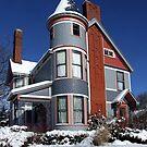 The Inn at Ludington in Winter by Stephen D. Miller