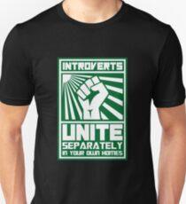 Camiseta unisex Copia de Introverts Unite por separado en sus propias casas camisetas