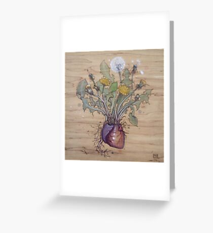 Dandelion Heart Greeting Card