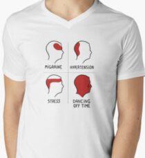 Dancing off time. Color edition.  Camiseta de cuello en V