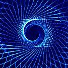 Blaue Spirale von TJ Baccari Photography