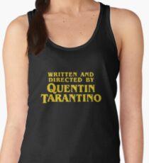 Camiseta de tirantes para mujer Escrito y dirigido por Quentin Tarantino