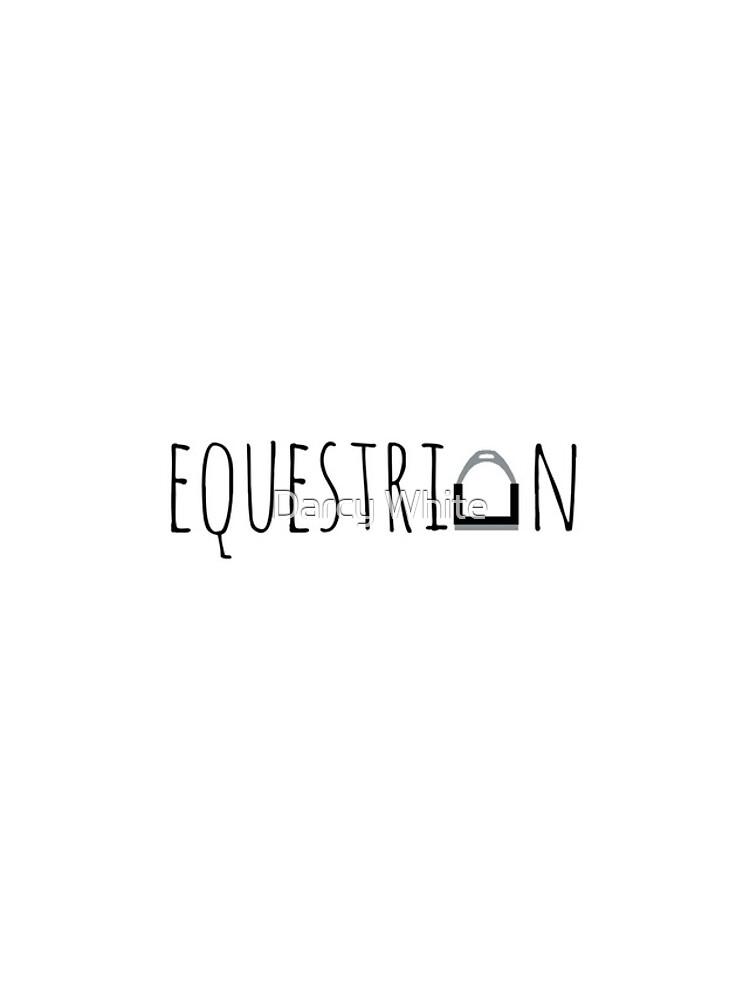 """Equestrian"" -Logo mit Steigbügel von e-q-u-i-t-a-t-e"