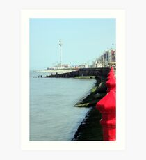 Rhyl Prom and Sky Tower Art Print