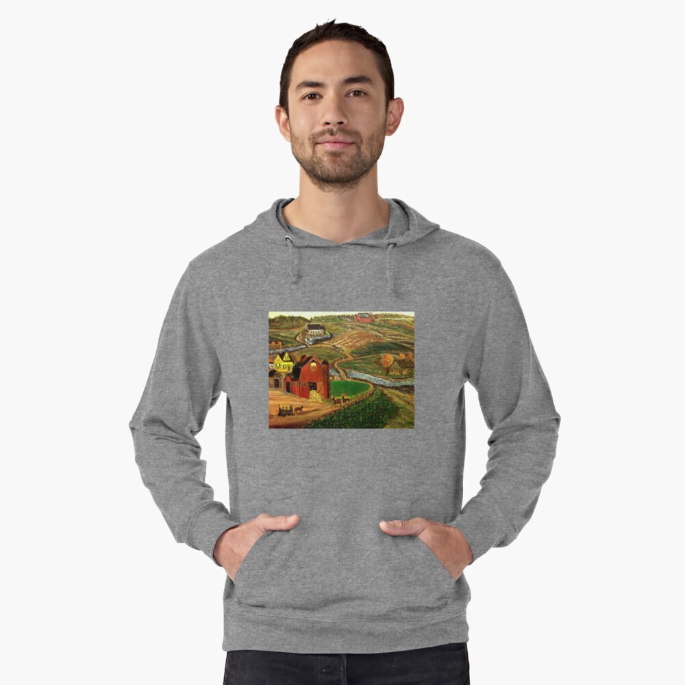 Old Mill Farm Lightweight Hoodie Front