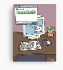 Workspace Aesthetic Canvas Print
