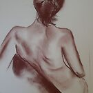 Life Drawing 18/04/10 - No. 1 by Lynda Robinson