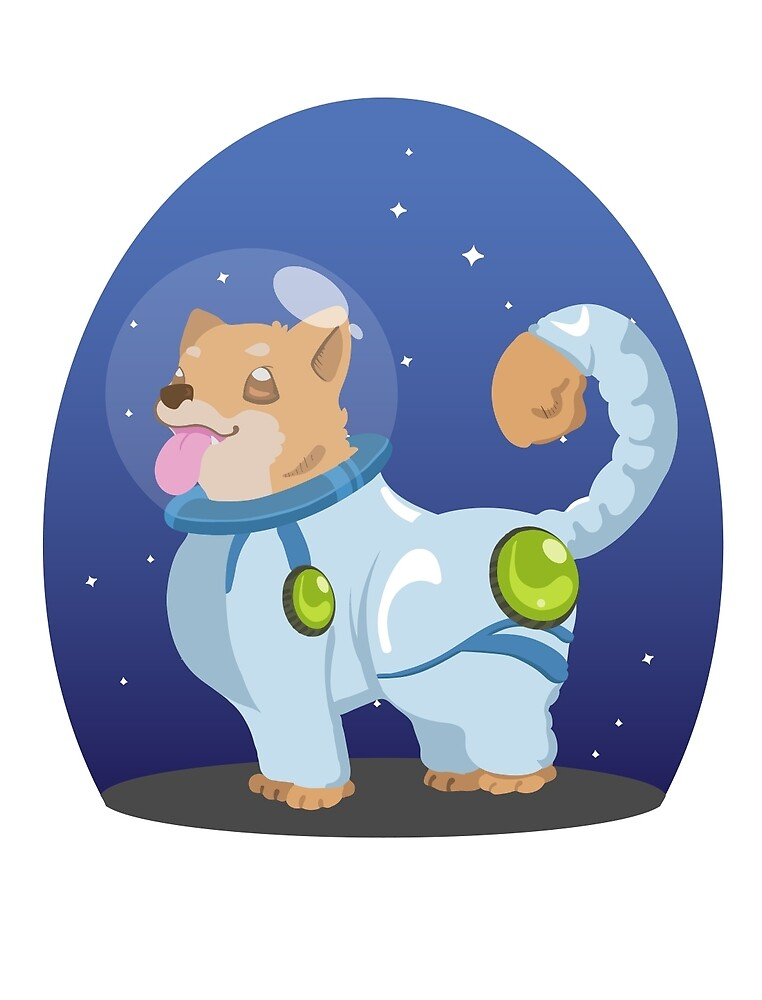 Space Corgi by chostett