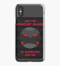 Krimzon Guard Propaganda iPhone Case/Skin