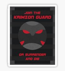 Krimzon Guard Propaganda Sticker