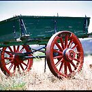Old Wagon Circa 1830's by Ronald Rockman