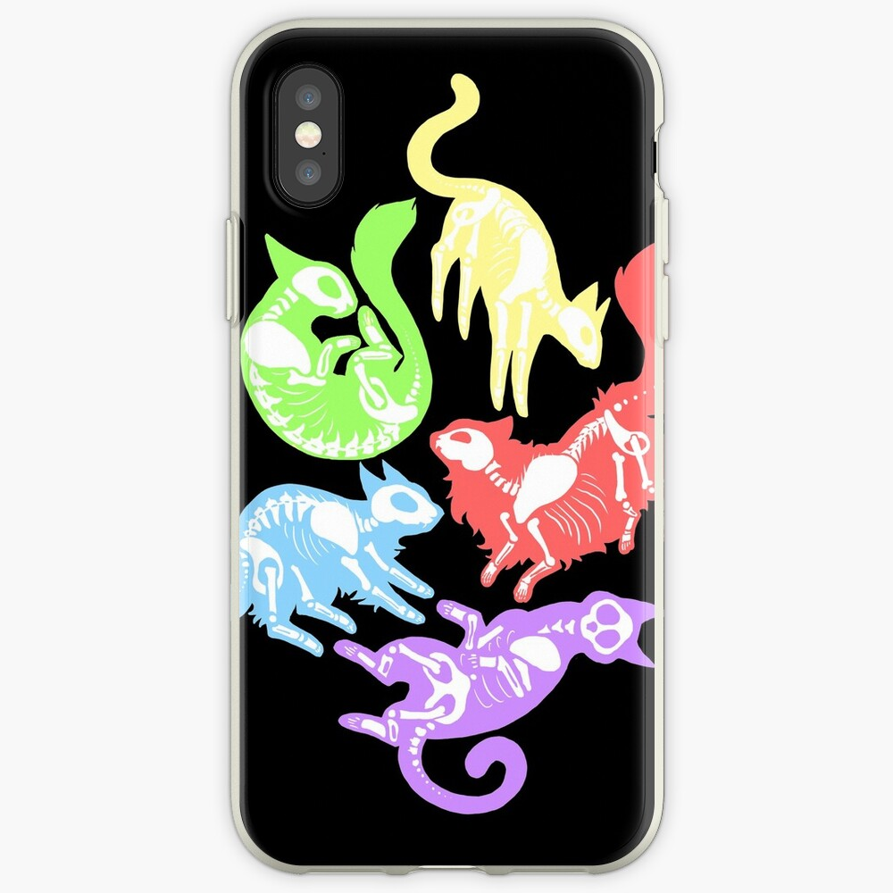 Creepy Kitties in Color iPhone Case & Cover