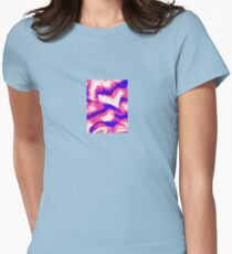 Abstract Heart valentine Womens Fitted T-Shirt