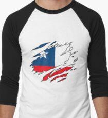 Camiseta ¾ bicolor para hombre Viva Chile 8cd8125afef