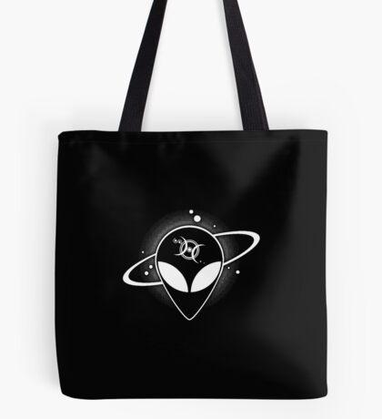Grey Alien 01 Light on Dark Full Front Tote Bag