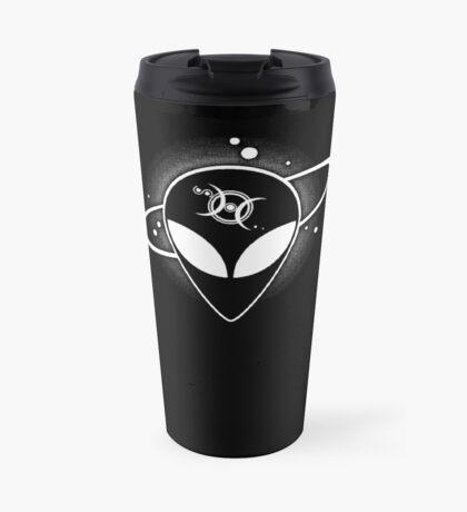 Grey Alien 01 Light on Dark Full Front Travel Mug