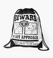 Beware the Evil Seagulls Drawstring Bag