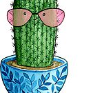 Cute cacti. Watercolor by JuliaBadeeva