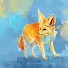Sound of the Desert - Digitale Malerei von Fennec Fox von floartstudio