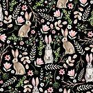 «Conejos lindos Patrón negro» de JuliaBadeeva
