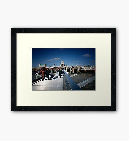 London - St Paul's & Millennium Bridge Framed Print
