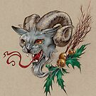 Krampus Kitty (with Holly) by justteejay