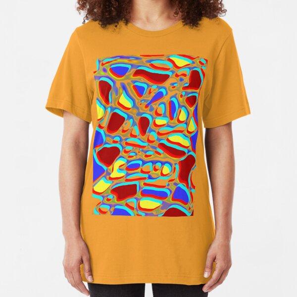 bright abstract a fun design for fun folk Slim Fit T-Shirt
