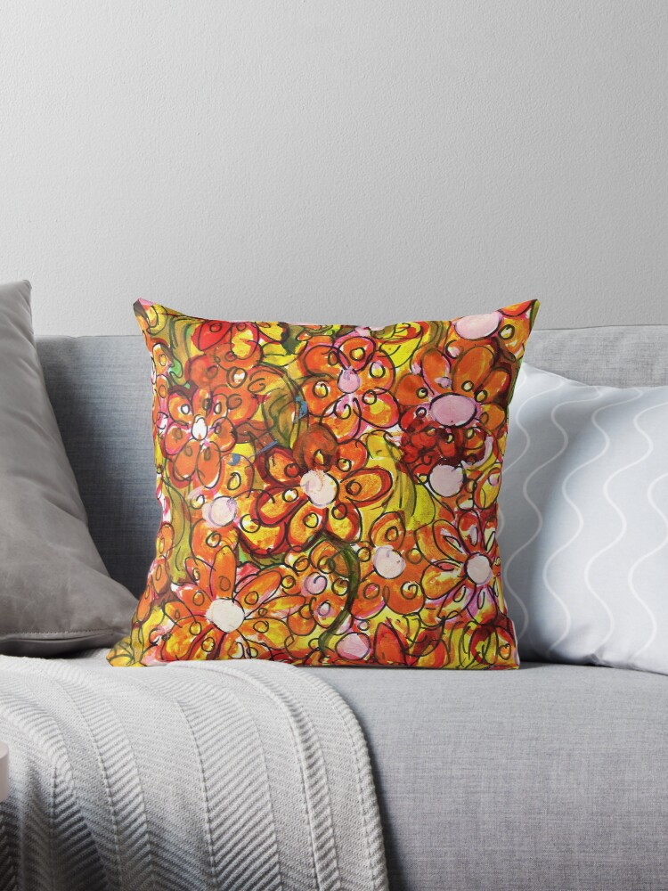 Orange Florals by Kelsey Reilly
