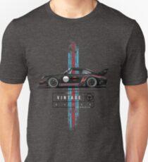 Echter Vintage-Rennfahrer (2) Slim Fit T-Shirt