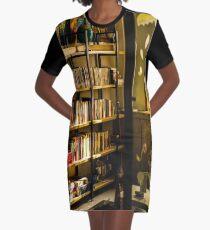 fwc 1395 bookcase books bookshelves Graphic T-Shirt Dress