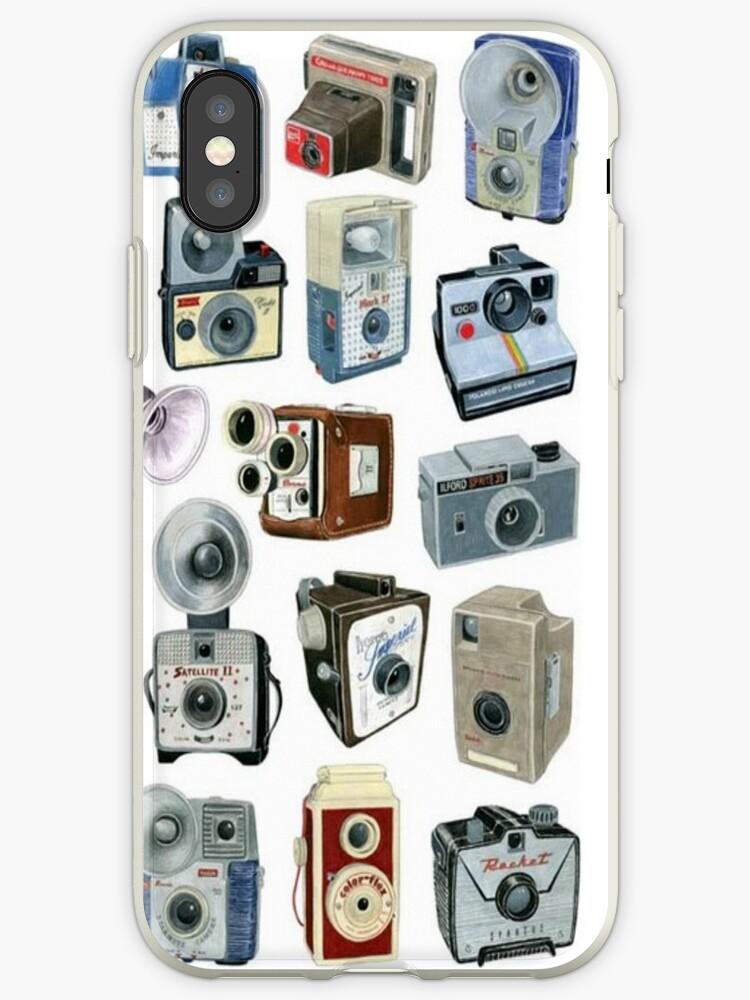 vintage cameras phone case by HayleaC
