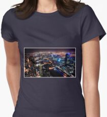 Melbourne night Womens Fitted T-Shirt