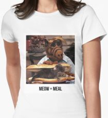 Alf Meow Women's Fitted T-Shirt