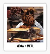 Alf Meow Sticker