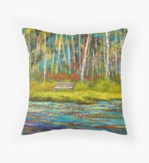 Sit down and have a seat. Throw Pillow